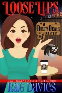 Loose Lips, Book 5 in the Dusty Deals Mystery series, featuring antiques, Montana and, of course, Kiska, the malamute.