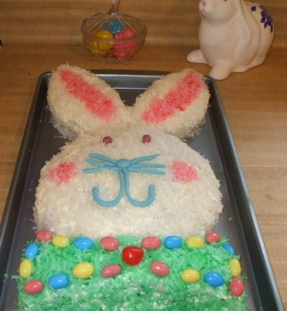 bunny-cutout-cake